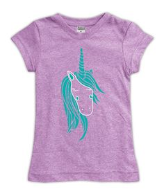 Take a look at this Urban Smalls Mauve Unicorn Fitted Tee - Toddler & Girls today!