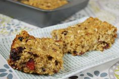 Quinoa Breakfast Bars - I substituted 2T mini choc chips for the cranberries and left out chia seeds.  I used banana instead of applesauce.