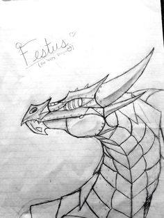 http://chopin8.deviantart.com/art/Festus-the-Happy-Dragon-502192403 Wow. Another study hall doodle. May or may not finish this. Concept art of Festus the bronze dragon from the Heroes of Olympus. Festus belongs to Rick Riordan.