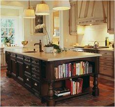 kitchen islands | Kitchen Island Storage – Open Shelves