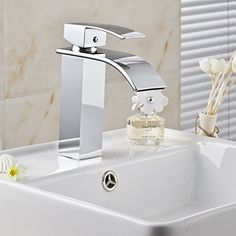 Aquafaucet Square Waterfall Bathroom Sink Basin Mixer Tap Faucet ,Chrome Plated Aquafaucet http://www.amazon.com/dp/B00S7SQ3GM/ref=cm_sw_r_pi_dp_Gqlbwb1DDYGEF