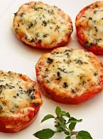 Baked Parmesan Tomatoes! I love this health recipe it is the perfect snack to bring to the office or to have before dinner time!
