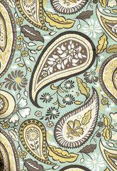 Boho Paisley Fabric, Rain | Slipcover Fabrics