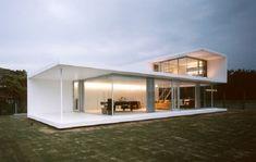Modern Prefabricated Homes for Modern Lifestyle: Modern Prefabricated Homes Modern Design White Wall Wide Window ~ dickoatts.com Modern Home Designs Inspiration
