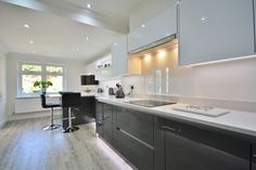 Grey and White Two Tone Kitchen Design - Designed, Supplied and Installed by KITCHENCRAFT Essex.
