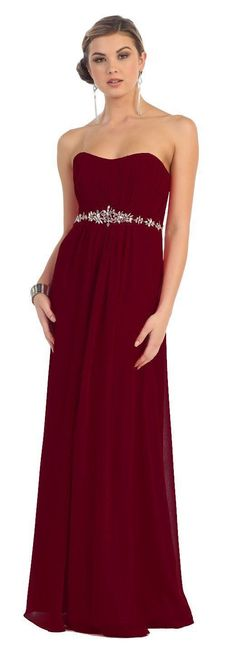 Long Formal Bridesmaids Dress Plus Size Chiffon Gown