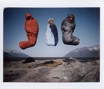 Happiness is having a warm sleeping bag.