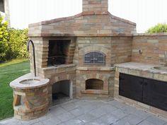 Outdoor Kitchen Plans, Backyard Kitchen, Summer Kitchen, Outdoor Kitchen Design, Outdoor Stone, Outdoor Fire, Outdoor Living, Pizza Oven Outdoor, Outdoor Cooking