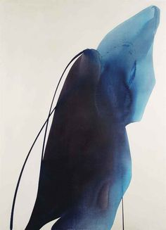 Paul Jenkins ~ Phenomena Bearer of Blue, 1963 (acrylic)