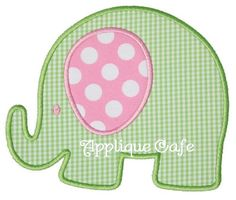 393 Elephant Machine Embroidery Applique by AppliqueCafeDesigns, $4.00