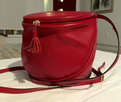 Bottega Veneta Red Textured Leather Crossbody by CraigOandAlice