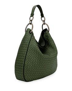 Make Hobo Bag Bottega Veneta Intrecciato Leather Shoulder Bag - Leather Shoulder Bag, Leather Bag, Brand Name Bags, Hobo Bag, Bottega Veneta, Italian Leather, Fashion Handbags, Bag Storage, Purses
