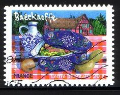 stamps honoring French food
