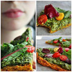 Wholehearted Eats | Incredible Squash Pizza | Pizza de abobora com pesto de caju| http://www.wholeheartedeats.com