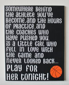 Hand painted canvas 16x20 Mia Hamm quote  Somewhere behind the athlete youve bec