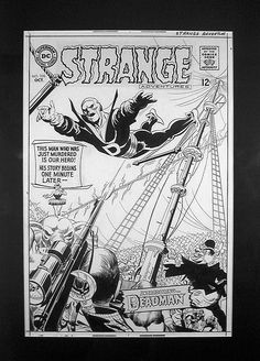 The original art by Infantino for the first appearance of Deadman