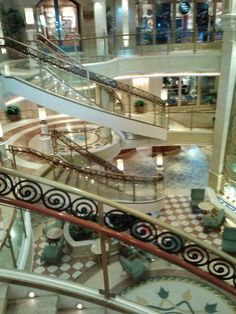 Inside the atrium on the Ruby Princess.  Most people were still ashore.