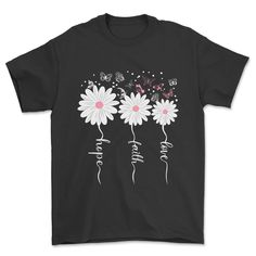 Faith Hope Love Butterfly Tee Daisy Shirts-SFNeewho-Mercantile Americana Faith Hope Love, Black And Navy, Online Shopping Clothes, Size Chart, Butterfly, T Shirts For Women, Purple, Women's Tees, Mens Tops