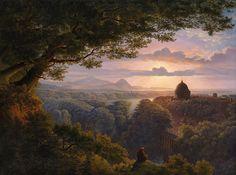 Karl Friedrich Schinkel (1781-1841), Landschaft mit Pilger - 1813