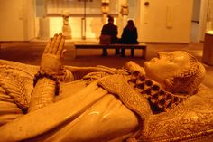 Tomb of Mary Queen of Scots in Museum of Scotland.
