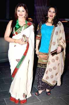 Deepshikha Nagpal and Niki Aneja Walia at Shirin Morani's wedding reception. #Bollywood #Fashion #Style #Beauty