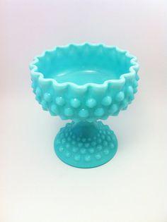 Fenton Turquoise Milk Glass Aqua Milk Glass  Blue by Comforte, $80.00