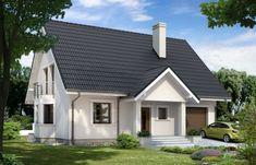 Proiect de casa mare si moderna cu subsol si mansarda Farmhouse Plans, Facade House, Design Case, Home Fashion, Brick, Shed, Sweet Home, Outdoor Structures, House Design