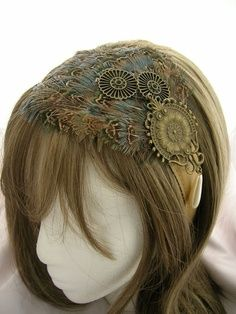 steam punk wedding fascinator | Wedding fascinators Love this!!