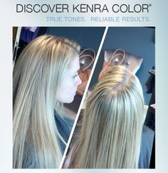 Kenra Color work by stylist Erin Price, using No Ammonia Lightener. stylist erin, color work, kenra color