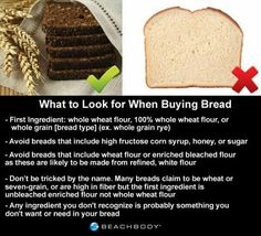 Be honest. You love bread. Everybody loves bread. However, for a number of reasons, many people are avoiding bread and other wheat products completely thes Healthy Cheat Meals, Healthy Tips, Healthy Eating, Healthy Recipes, Healthy Foods, Beach Bodys, Food Menu, Nutrition Tips, Eating Habits