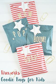 Fireworks Goodie Bags for Kids. An easy craft idea for any party!