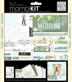 Amazon.com: me & my BIG ideas Scrapbook Page Kit, Our Wedding, 8-Inch by…