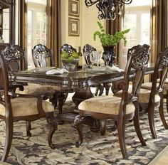 Kinda what our dining room furniture will look like, but with cushions on the chair backs as well.