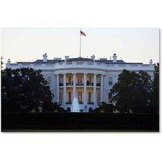 Trademark Fine Art White House Canvas Art by CATeyes, Size: 22 x 32, Multicolor