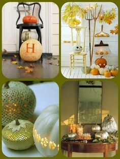 Fall decor ideas (love the Jack Skellington pumpkin!)