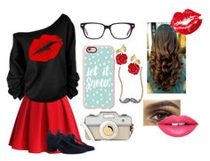 """""""Um beijo, ou até três"""" by inne-styles ❤ liked on Polyvore featuring Chicwish, Zimmermann, Casetify, Accessorize, Adriana Orsini, Fiebiger and Manic Panic"""