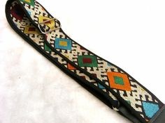 Old Vintage Thai Handwoven Guitar Strap P2W0045 by pailinstraps on Etsy