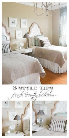 3 Style Ideas for a French Country Bedroom