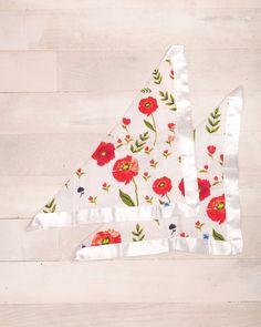 Cotton Security Blankets - Summer Poppy