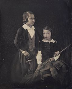 The Prince of Wales, later King Edward VII, and Prince Alfred, children of Queen Victoria and Prince Albert, 1852, by Theodore Brunell | Flickr - British Monarchy