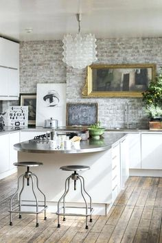 Image result for add texture to kitchen wall