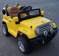 Ride on Toy Jeep Wrangler Style 2016 model .LEATHER SEAT,WORKING DOORS,MP3 CONNECTION.