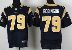 Nike St. Louis Rams  79 Greg Robinson Navy Blue Elite Jersey c37ffefdb