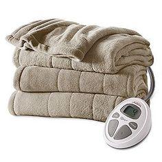 Sunbeam  Full Channeled Microplush Heated Blanket
