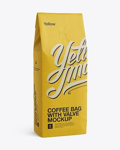Coffee Bag With Valve Mockup - Half-Turned View. Preview