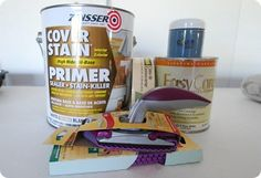 Zinsser's Cover Stain is the Primer to Use on Ikea or Laminate Furniture!