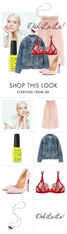 """""""#spring in my step"""" by daniellededwards ❤ liked on Polyvore featuring MILK MAKEUP, Mother of Pearl, Balenciaga, Christian Louboutin and La Perla"""