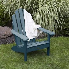 Top-Rated Adirondack Chairs for your Coastal Home! We love Adirondack Patio Chairs because of their comfort and beauty. Anarondak Chairs, Outdoor Chairs, Outdoor Furniture, Outdoor Decor, Side Chairs, Adirondack Chairs For Sale, Spool Chair, Backyard, Federal