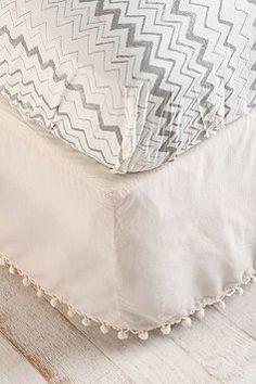 ball fringe bedskirt...$79
