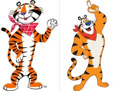 Tony the Tiger then and now